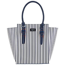 Buy Paul's Boutique Mila Top Handle Tote Bag, Navy Stripe Online at johnlewis.com