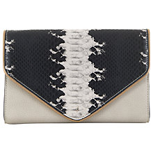 Buy Paul's Boutique Alana Clutch Bag, Black / Stone Online at johnlewis.com