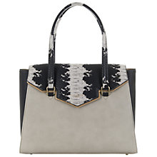 Buy Paul's Boutique Ashley Top Handle Tote Bag, Stone / Black Online at johnlewis.com