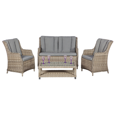 Royalcraft Wentworth 4-Seater High Back Lounge Suite