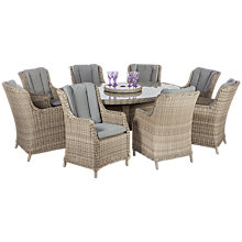 Buy Royalcraft Wentworth Imperial High Back 8-Seater Dining Set Online at johnlewis.com