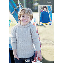 Buy Sirdar Supersoft Aran Hooded Jumper Knitting Pattern, 2448 Online at johnlewis.com