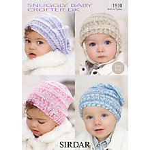 Buy Sirdar Snuggly Baby Hats Knitting Pattern, 1930 Online at johnlewis.com