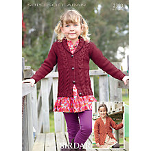 Buy Sirdar Supersoft Aran Cable Jacket Knitting Pattern, 2393 Online at johnlewis.com