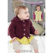 Buy Sirdar Snuggly Children's Hooded Cardigan Knitting Pattern, 4581 Online at johnlewis.com