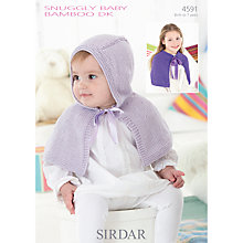 Buy Sirdar Snuggly Baby Bamboo Children's Cape Knitting Pattern, 4591 Online at johnlewis.com