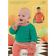 Buy Sirdar Snuggly Baby Children's Jumpers Knitting Pattern, 4627 Online at johnlewis.com