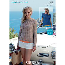 Buy Sirdar Amalfi DK Sweater Knitting Pattern, 7779 Online at johnlewis.com