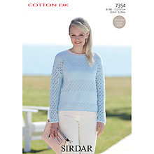 Buy Sirdar Lace Sweater Cotton DK Knitting Pattern, 7354 Online at johnlewis.com