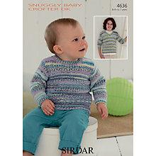 Buy Sirdar Snuggly Baby Crofter DK Jumper Knitting Pattern, 4636 Online at johnlewis.com