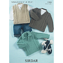 Buy Sirdar Suggly 4 Ply Jumpers and Waistcoat Knitting Pattern, 1769 Online at johnlewis.com
