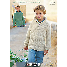 Buy Sirdar Children's Cabled Jumpers Knitting Pattern, 2314 Online at johnlewis.com