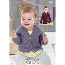 Buy Sirdar V and Round Neck Cardigan Snuggly DK Knitting Pattern, 4582 Online at johnlewis.com