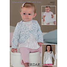 Buy Sirdar Snuggly Spots Children's Cardigan Knitting Pattern, 4602 Online at johnlewis.com