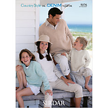 Buy Sirdar Country Style DK Family Plain Jumper Knitting Pattern, 5076 Online at johnlewis.com