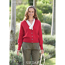 Buy Sirdar Country Style 4 Ply Cable Edge Cardigan Knitting Pattern, 7044 Online at johnlewis.com