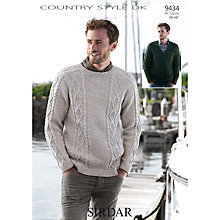 Buy Sirdar Country Style DK Sweater Knitting Pattern, 9434 Online at johnlewis.com