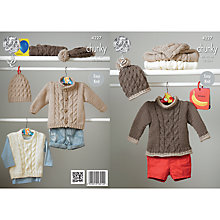 Buy King Cole Comfy Chunky Cable Jumpers Jackets Knitting Pattern, 4227 Online at johnlewis.com
