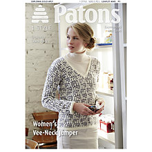 Buy Patons Diploma Gold 4 Ply Women's V-Neck Jumper, 4045 Online at johnlewis.com