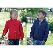 Buy King Cole Chunky Children's Cardigan Knitting Pattern, 3256 Online at johnlewis.com