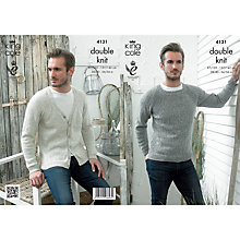 Buy King Cole Double Knit Garment Knitting Pattern, 4131 Online at johnlewis.com
