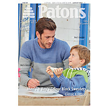 Buy Patons Yarn Fab DK Men and Boy's Jumper Knitting Pattern, 4062 Online at johnlewis.com