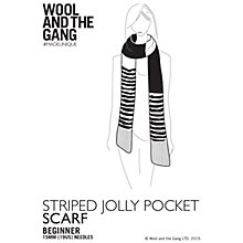 Buy Wool and the Gang Striped Jolly Pocket Scarf Knitting Pattern Online at johnlewis.com