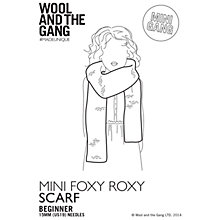 Buy Wool and the Gang Children's Mini Foxy Roxy Scarf Knitting Pattern Online at johnlewis.com