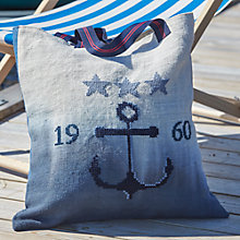Buy Anette Eriksson Anchor Beach Bag Half Cross Stitch Kit Online at johnlewis.com