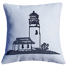 Buy Anette Eriksson Lighthouse Pillow Cover Cross Stitch Kit, Navy Online at johnlewis.com