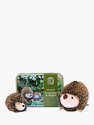 Apples to Pears Gift in a Tin Sew Me Up Hedgehog and Hoglet Craft Kit, Brown