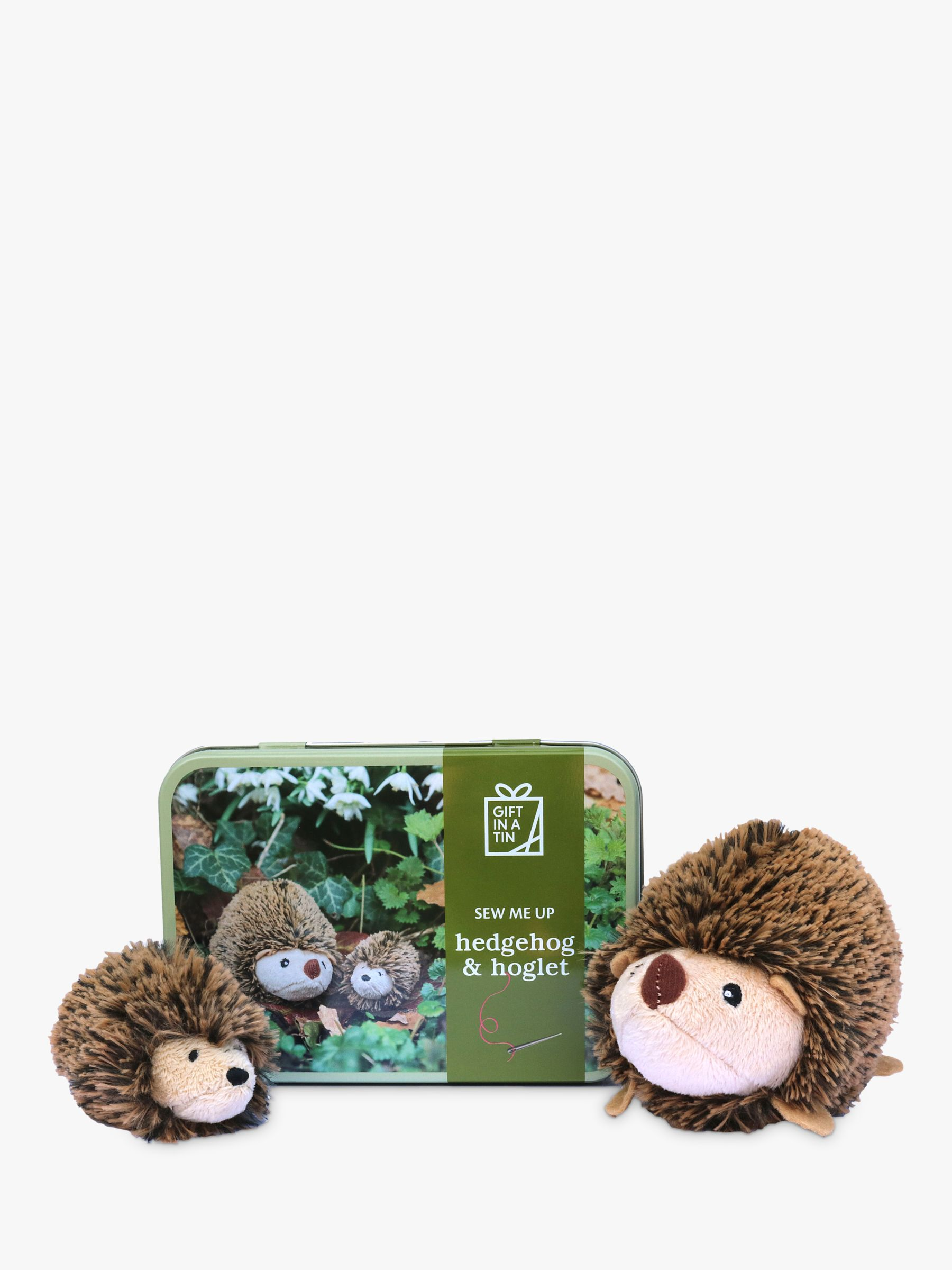 Apples To Pears Apples To Pears Sew Me Up Hedgehog and Hoglet Sewing Kit, Brown