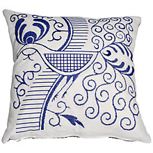 Buy Anette Eriksson Indigo Bird Cross Stitch Wall Art or Pillow Cover Kit, White/Blue Online at johnlewis.com