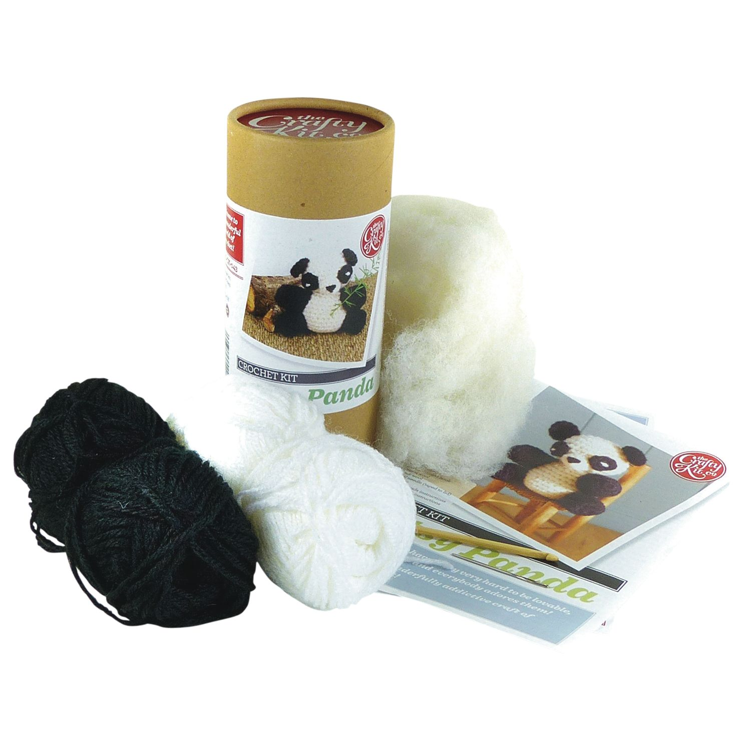 Apples To Pears Apples To Pears Patsy Panda Crochet Kit, Black/White