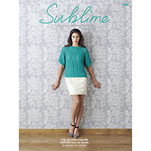 Buy Sirdar Sublime Women's Jumpers and Tops Knitting Pattern Booklet, 0695 Online at johnlewis.com