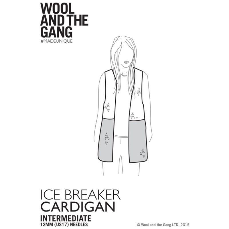 Knitting Patterns Wool And The Gang : Buy Wool and the Gang Ice Breaker Cardigan Knitting Pattern John Lewis