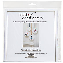 Buy Anette Eriksson Nautical Anchor Wall Art Cross Stitch Kit Online at johnlewis.com