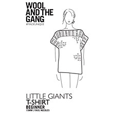 Buy Wool and the Gang Little Giants T-Shirt Knitting Pattern Online at johnlewis.com