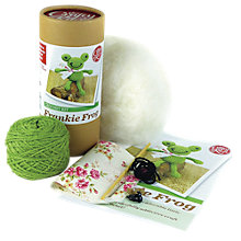 Buy Apples To Pears Frankie Frog Crochet Kit, Green Online at johnlewis.com