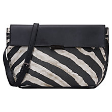 Buy French Connection Zadie Across Body Bag, Black/White Zebra Online at johnlewis.com