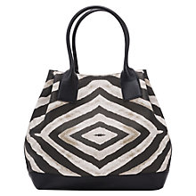 Buy French Connection Zahara Tote Bag, Black/White Zebra Online at johnlewis.com