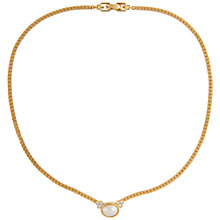 Buy Susan Caplan Vintage 1980s Givenchy Gold Plated Faux Pearl and Swarovski Crystal Necklace, Gold Online at johnlewis.com