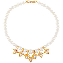 Buy Susan Caplan Vintage 1980s Napier Gold Plated Faux Pearl Collar Necklace, Gold/White Online at johnlewis.com