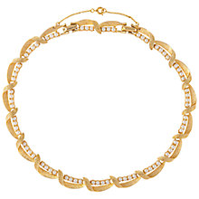 Buy Susan Caplan Vintage 1960s Gold Plated Faux Pearl Link Necklace, Gold Online at johnlewis.com