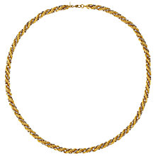 Buy Susan Caplan Vintage 1980s Monet Gold and Silver Plated Two Tone Twist Necklace, Gold/Silver Online at johnlewis.com