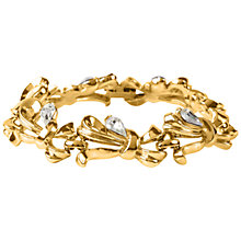 Buy Susan Caplan Vintage 1960s Trifari Gold Plated Ribbon and Crystal Bracelet, Gold Online at johnlewis.com