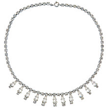 Buy Susan Caplan Vintage 1960s Silver Plated Sparkling Austrian Crystal Necklace, Silver Online at johnlewis.com