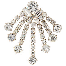 Buy Susan Caplan Vintage 1960s Chrome Plated Crystal Brooch, Silver Online at johnlewis.com