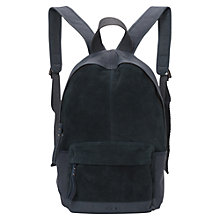 Buy French Connection Fuji Suede Backpack, Black Rhino Online at johnlewis.com