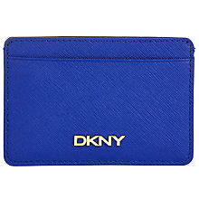 Buy DKNY Bryant Park Leather Small Leather Card Holder, Blue Online at johnlewis.com